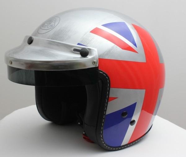 Helm im Retro Design mit Unionjack