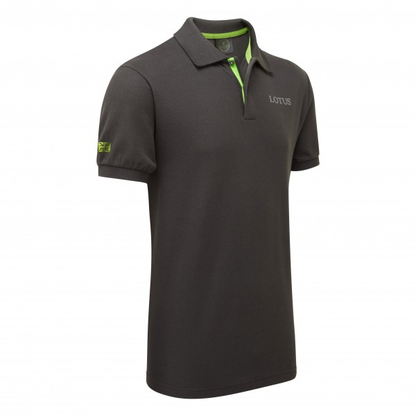 Lotus Polo-Shirt/grau