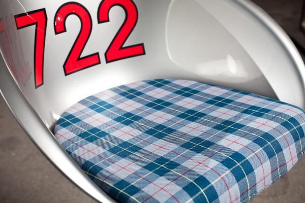 Sitzkissen mit original Automobilstoffen