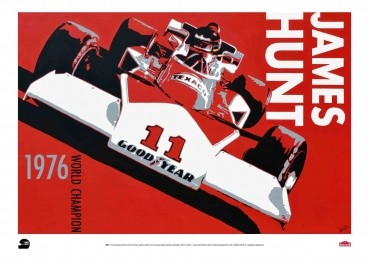 "James Hunt Limited Edition Print JHRC""M23"" Poster"