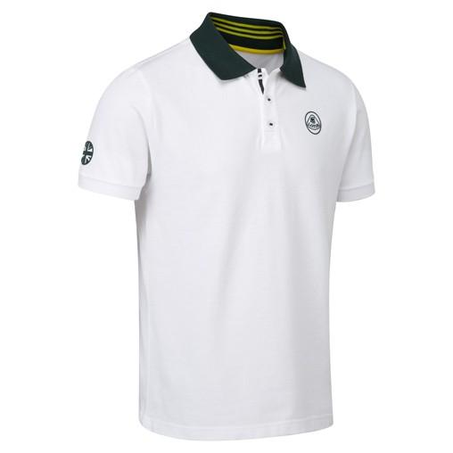 Lotus Lifstyle Polo-Shirt Weiss/Grün