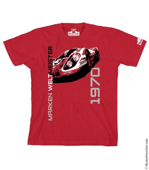 """"""" LE MANS 1970"""" Weltmeister T-Shirt mit Porsche 917"""