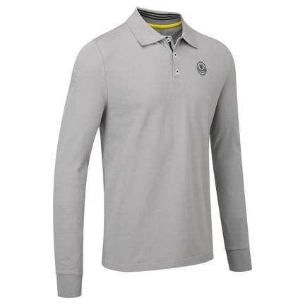 Lotus Lifestyle langarm Polo-Shirt Grau