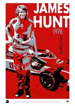 "James Hunt Limited Edition Print JHRC ""1976"" Poster"