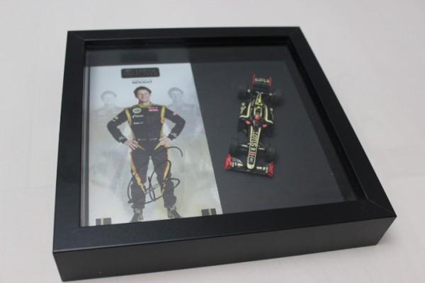 Diorama Autogramm Romain Grosjean
