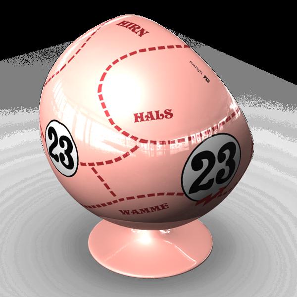 Motorsport Ball / Art Ball 917 Die Sau /Pink Pig
