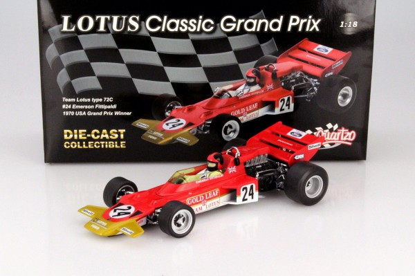 Modellauto Gold Leaf Team Lotus Type 72C Emerson Fittipaldi USA 1970 1:18