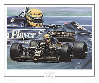 Print Ayrton Senna The First Win JPS