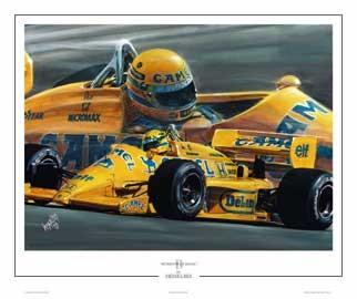 Print Ayrton Senna The Magic Camel