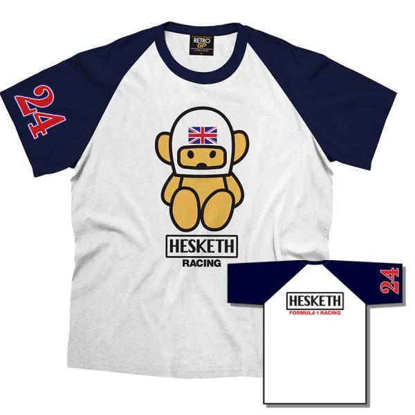 James Hunt Hesketh Team T-Shirt blau/weiß