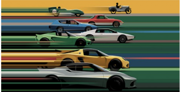70th Anniversary Lotus Poster